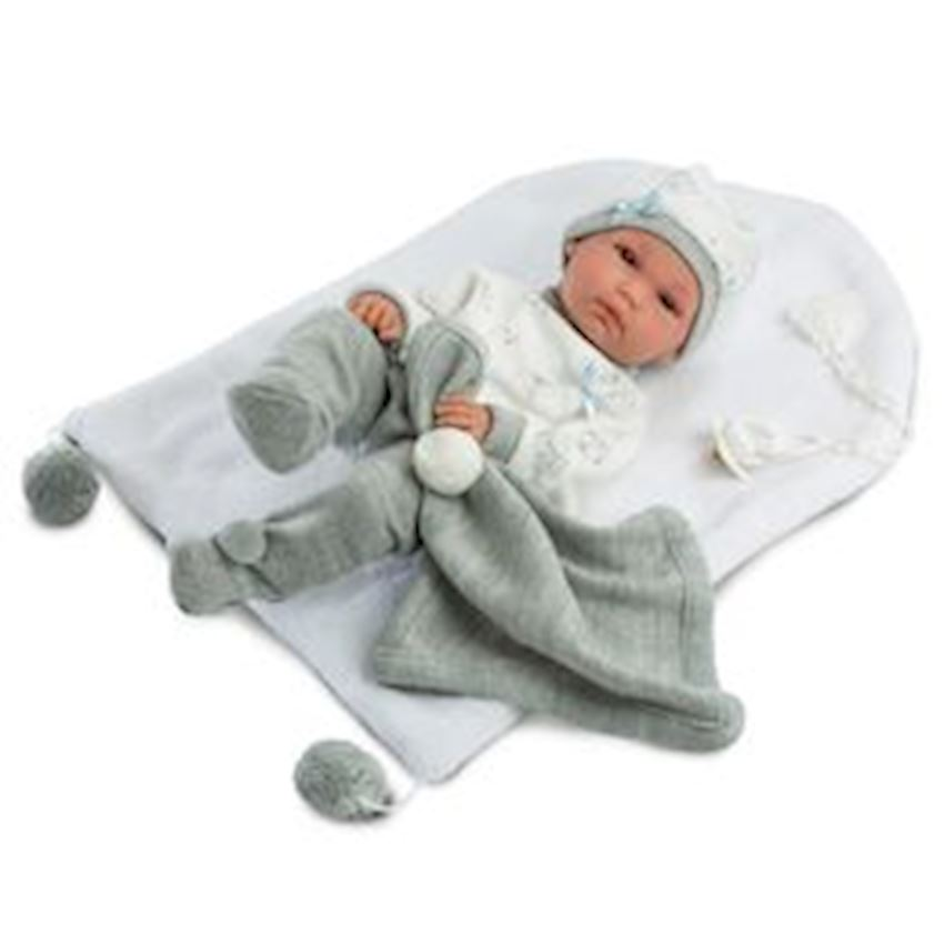 Llorens Pipo Gray Pajamas With Changer 35cm Other Baby Toys