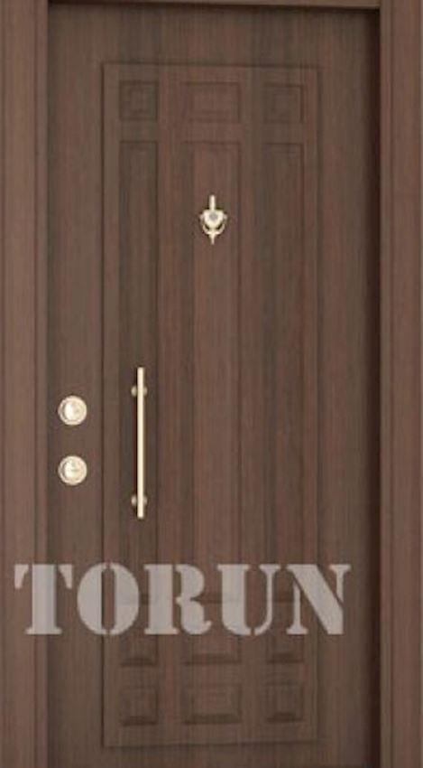Luxury Embossed Steel Door Models Walnut Steel Door Model