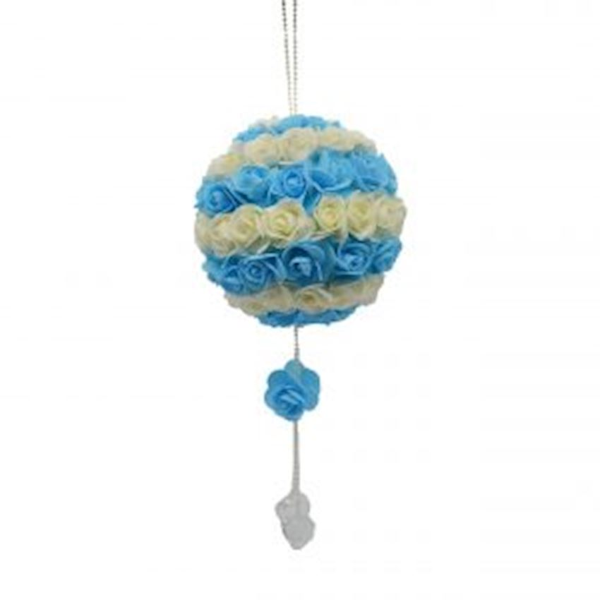 Luxury Floral Ball Ceiling Ornament Blue-White Christmas Decoration Supplies