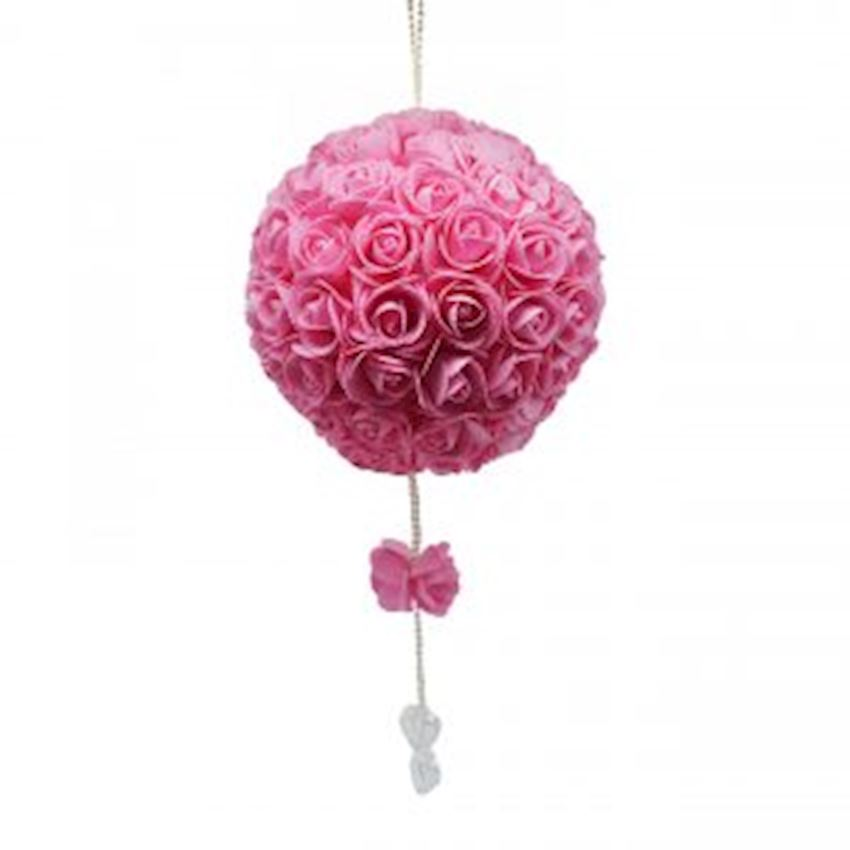 Luxury Floral Ball Ceiling Ornament Pink Christmas Decoration Supplies