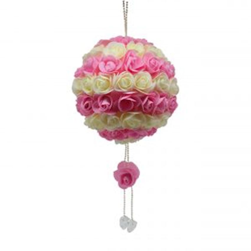 Luxury Floral Ball Ceiling Ornament Pink-White Christmas Decoration Supplies