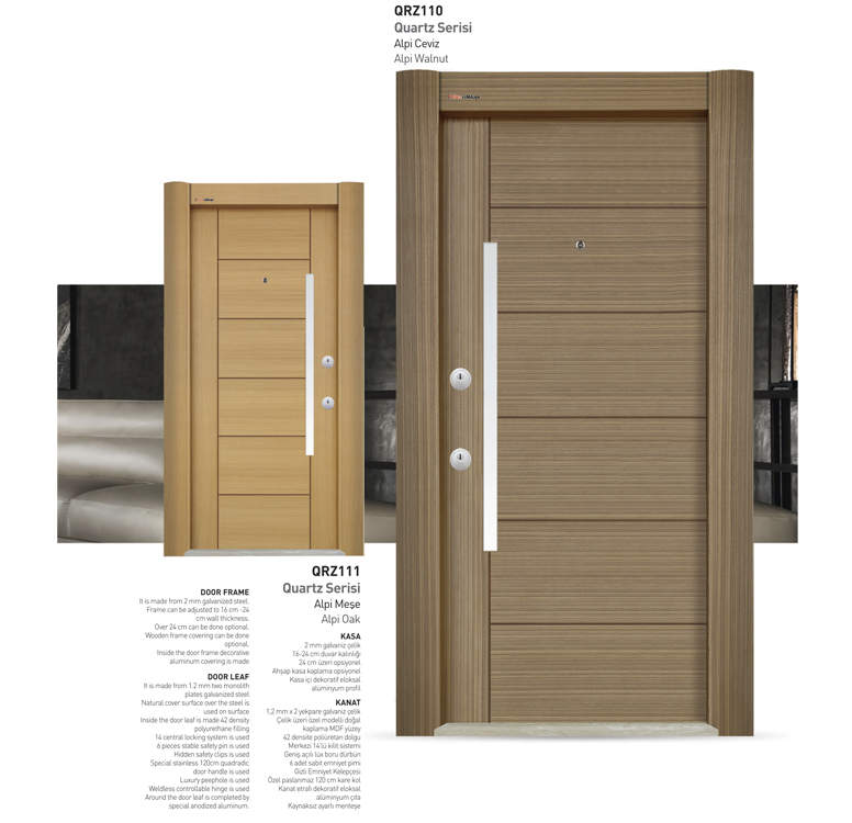 Luxury Steel Door Api Ceviz