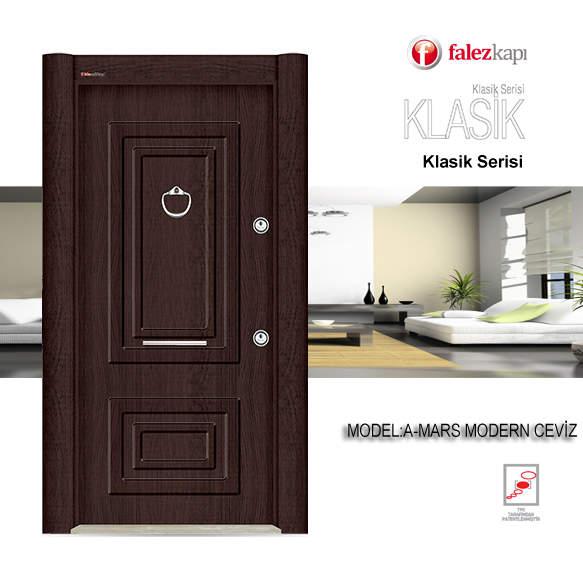 Luxury Steel Door Classic Series Mars Modern Ceviz