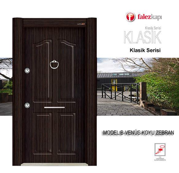 Luxury Steel Door Classic Series Venus Koyu Zebran