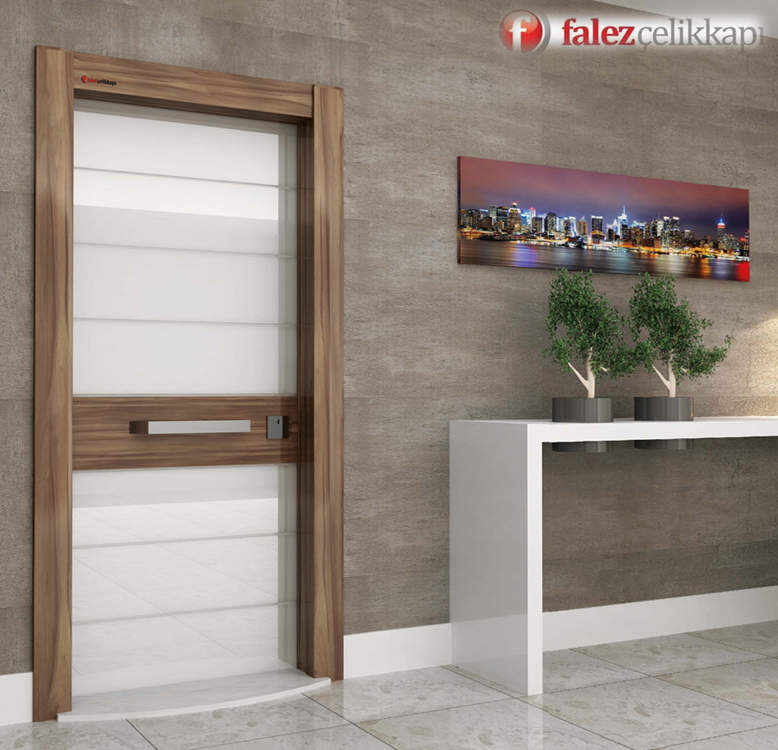 Luxury Steel Door Glass Piano