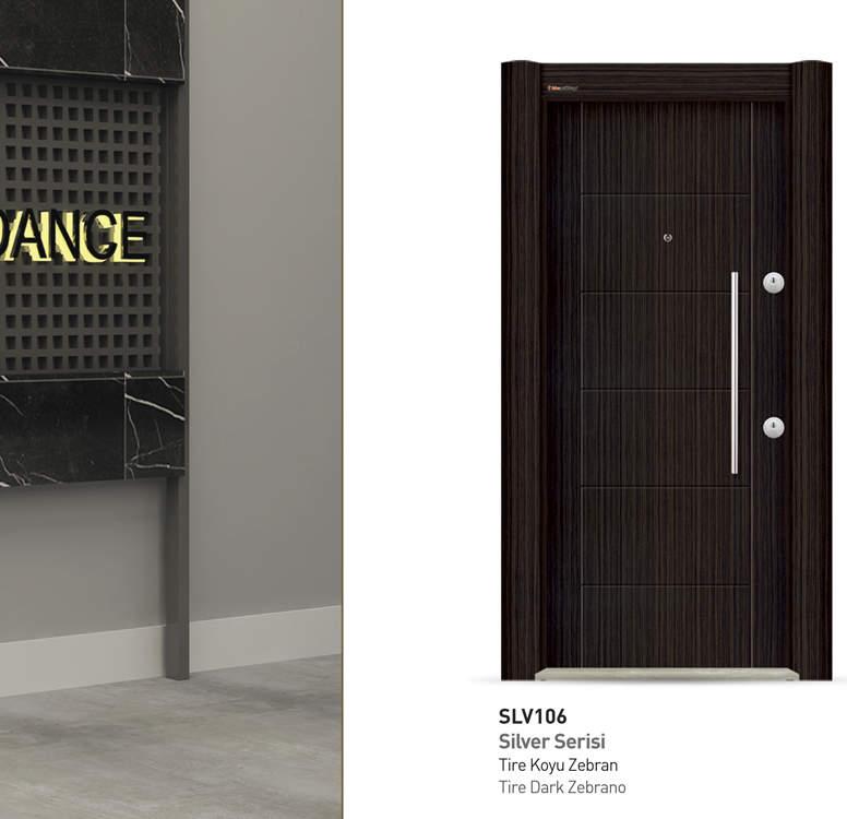 Luxury Steel Door Silver Series