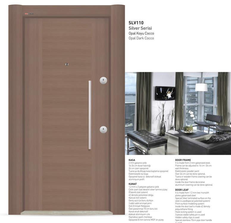 Luxury Steel Door Silver Series Cocco