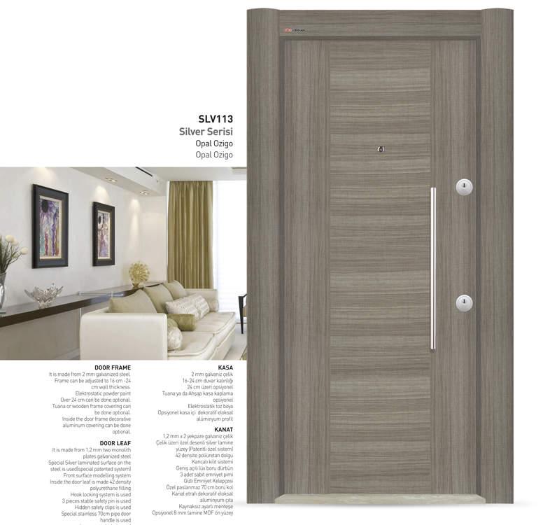 Luxury Steel Door Silver Series Ozigo