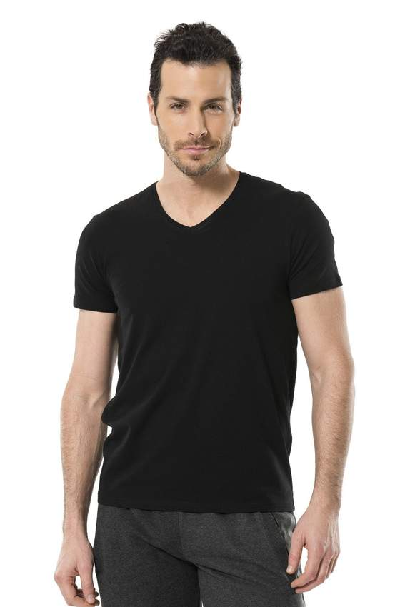 Men's T-Shirts - LYCRA V -NECK T-SHIRT