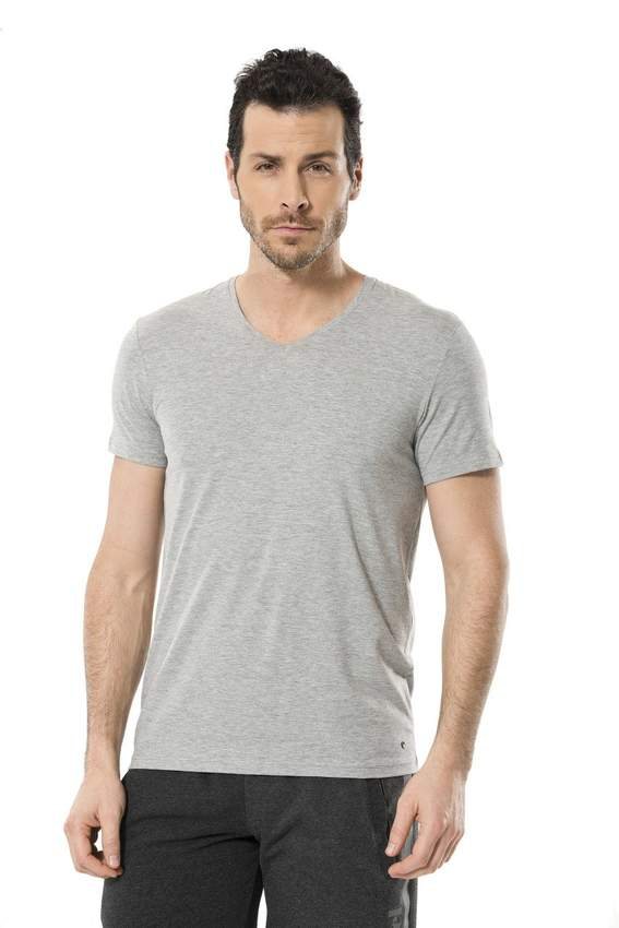 Men's T-Shirts - LYCRA V -NECK T-SHIRT
