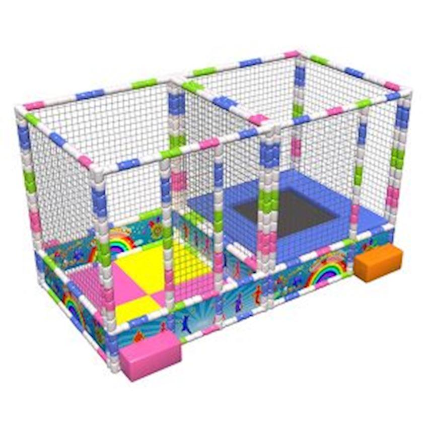 Metal Ball Pool & Trampoline 200x400x200 cm Amusement Park