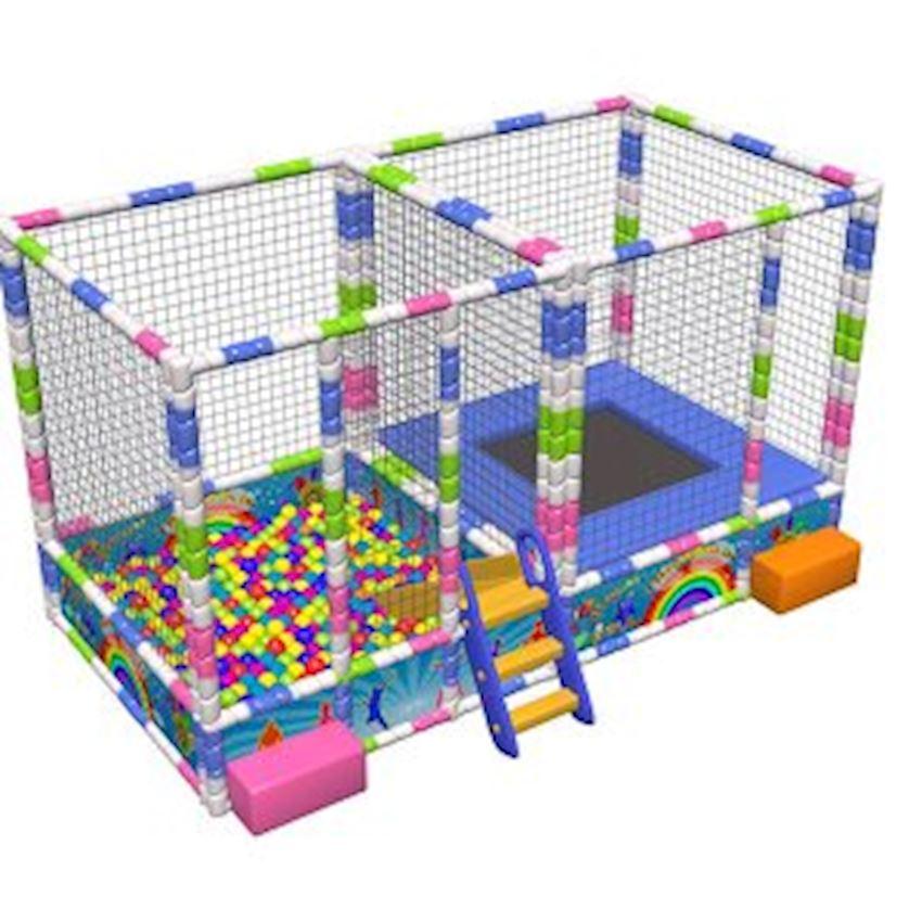 Metal Ball Pool & Trampoline Set 200x400x200 cm Amusement Park