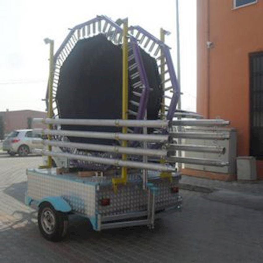 Mobile Salto Trampoline 4 People Aluminum 250 Amusement Park