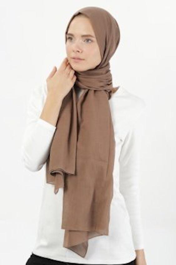 MODGREY Pratic Shape Brown Silk Shawls