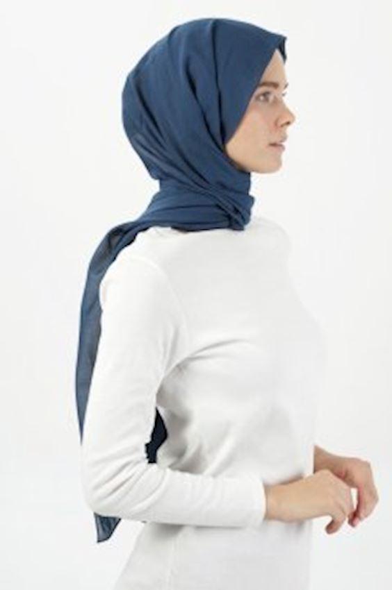 MODGREY Pratic Shape Navy Blue Silk Shawls