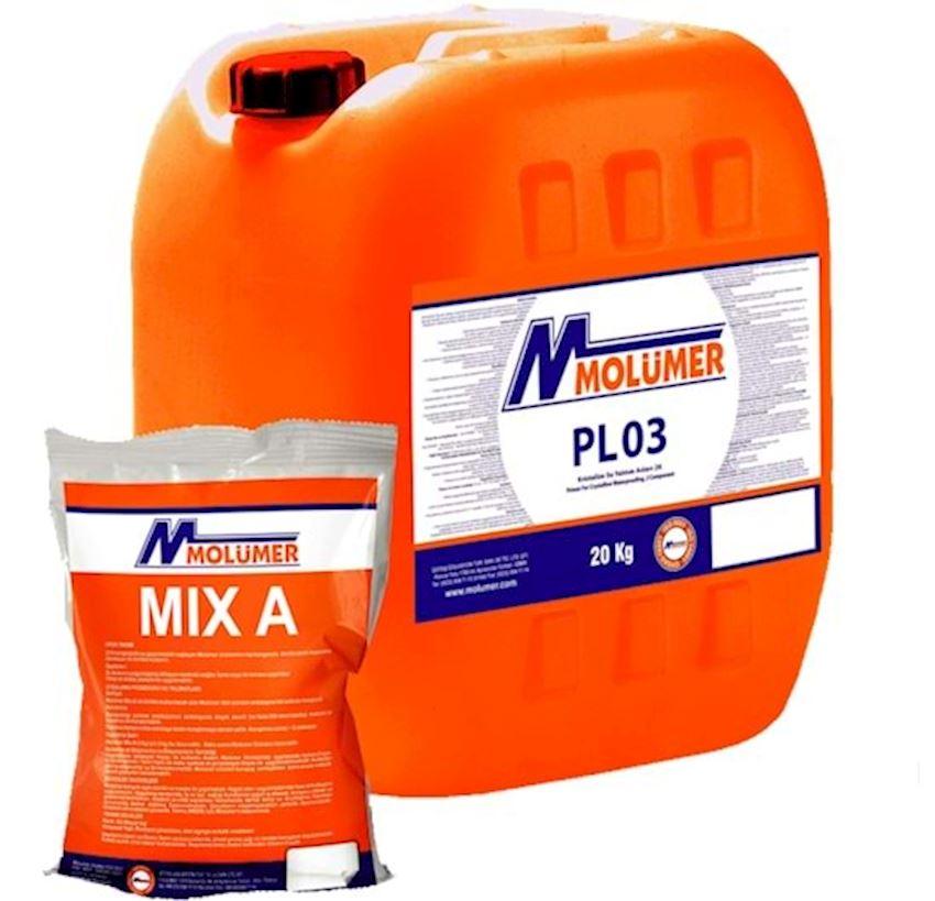 Molumer Pl03 Crystallized Waterproofing Primer 2k 20 Kg + 6 Kg Waterproofing Materials