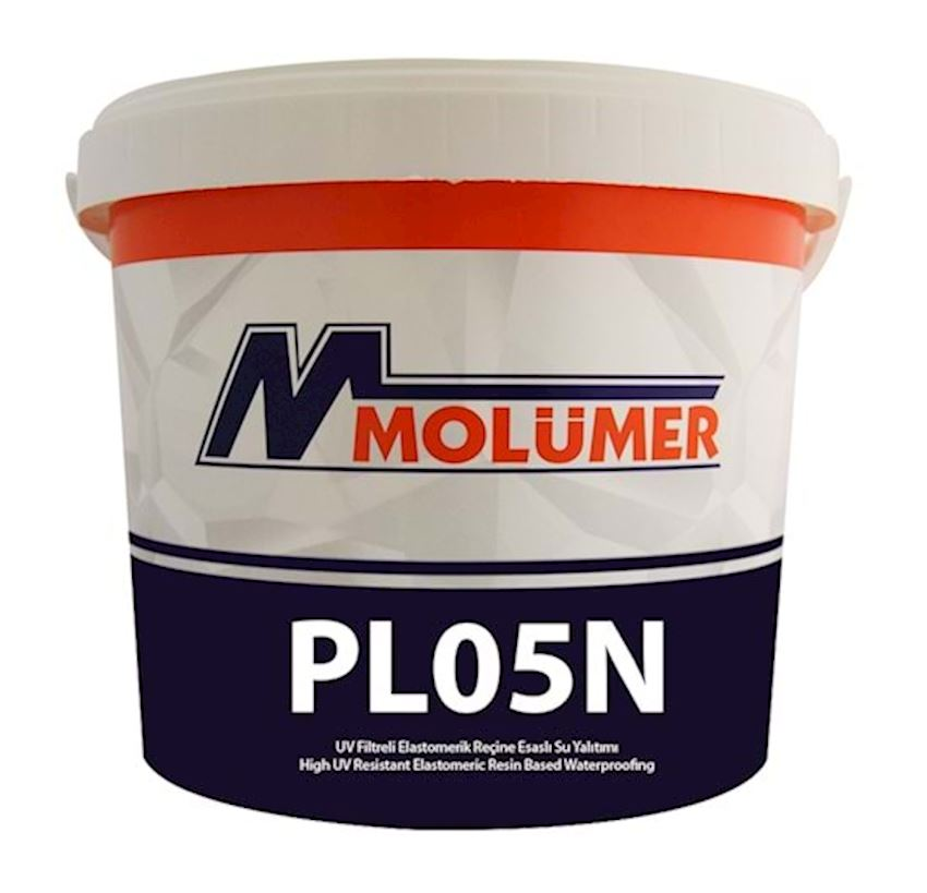 Molumer Pl05n Elastomeric Resin Based Waterproofing With Uv Filter - White - 10 Kg Waterproofing Materials