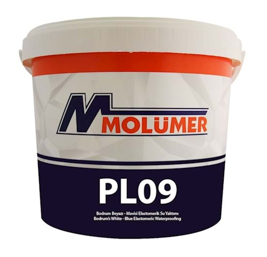 Molumer Pl09 Bodrum White-blue Elastomeric Waterproofing - Red - 18 Kg - Fiber Waterproofing Materials