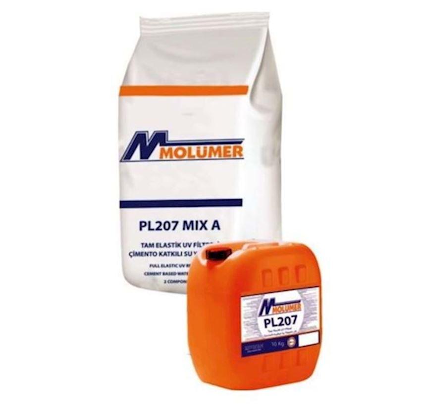 Molumer Pl207 Full Elastic Uv Filtered Cement Added Waterproofing 2k - White - 10kg + 20kg Set Waterproofing Materials