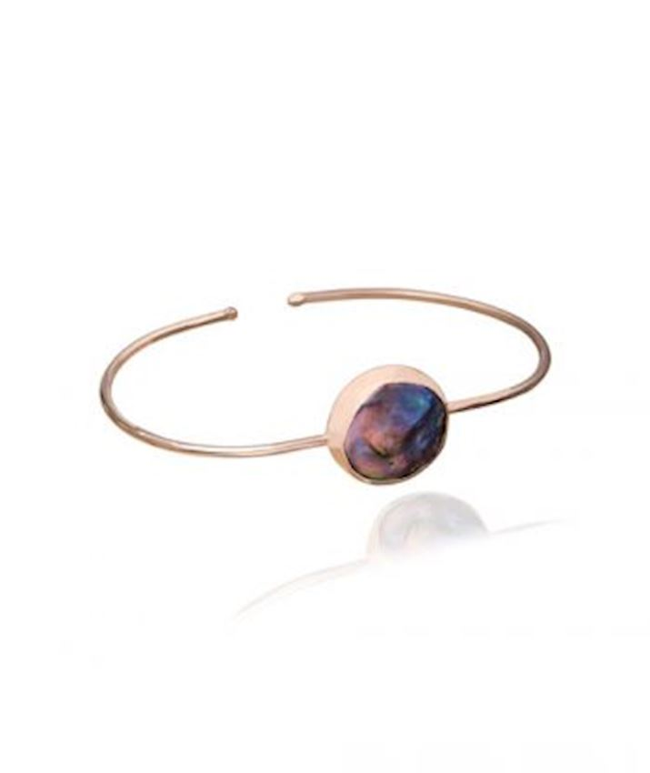 Mother of Pearl Bangle, Blue