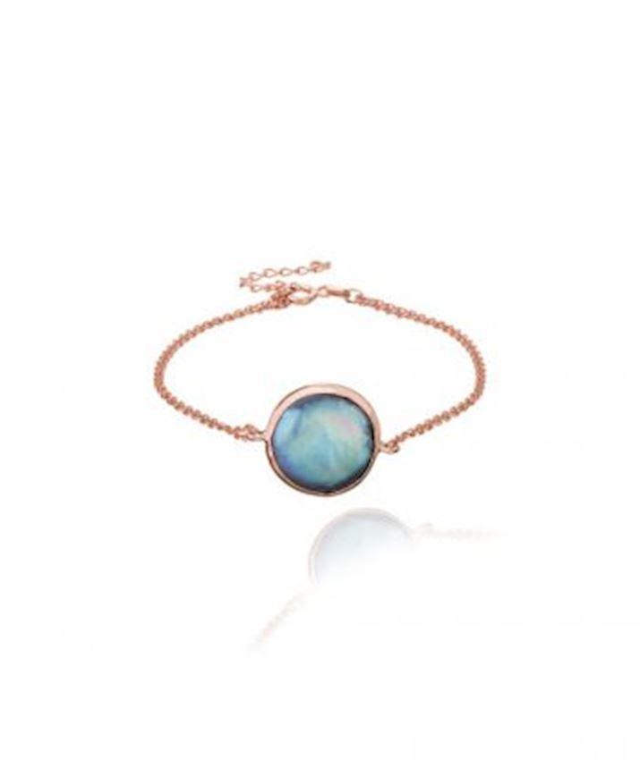 Mother of Pearl Bracelet, Blue