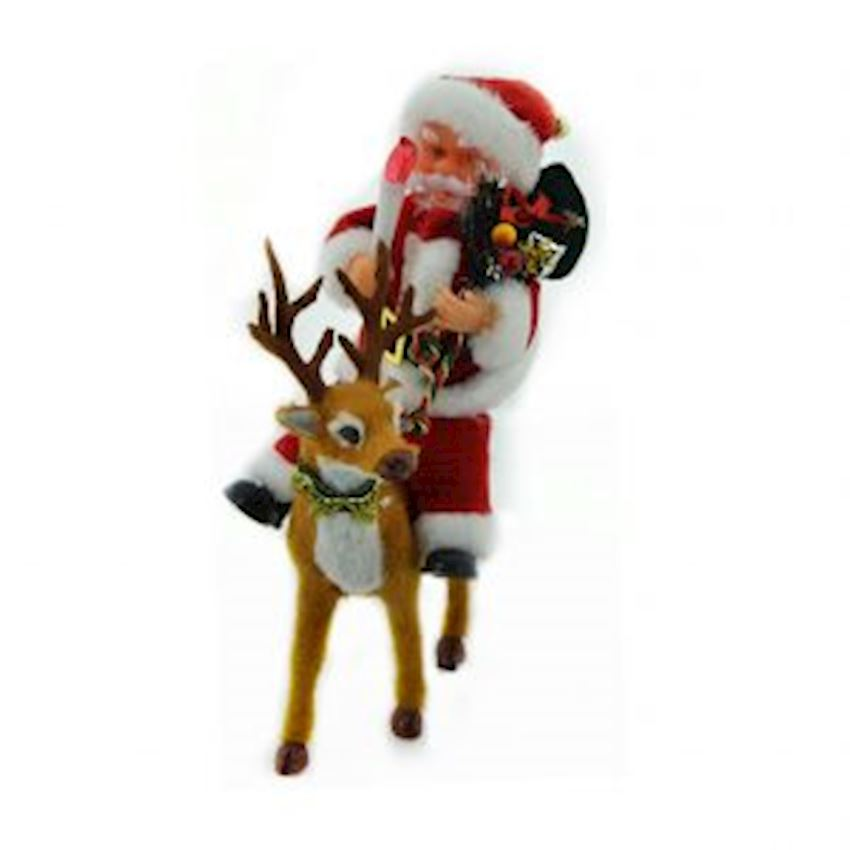 Music Reindeer Ride Santa Claus Trinket 25cm Christmas Decoration Supplies