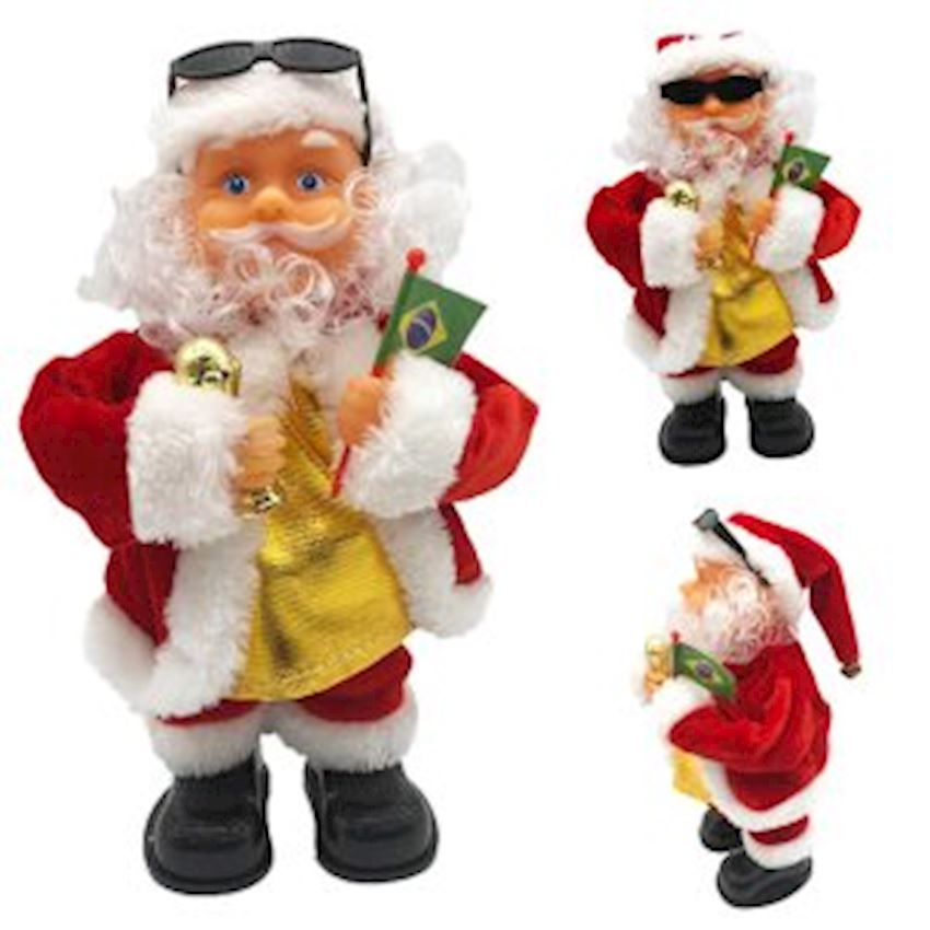 Music Santa Claus Figures 24cm Christmas Decoration Supplies