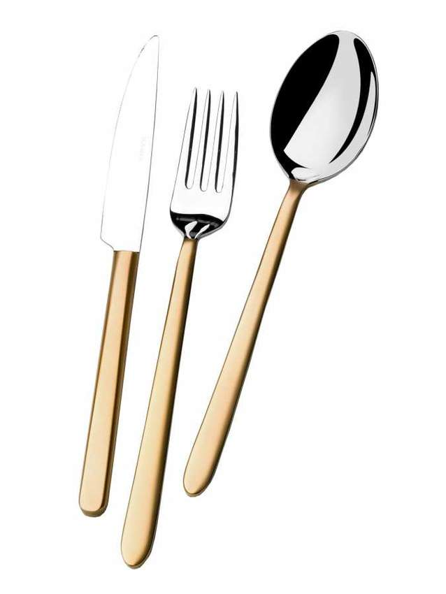 Matte Gold Flatware Sets
