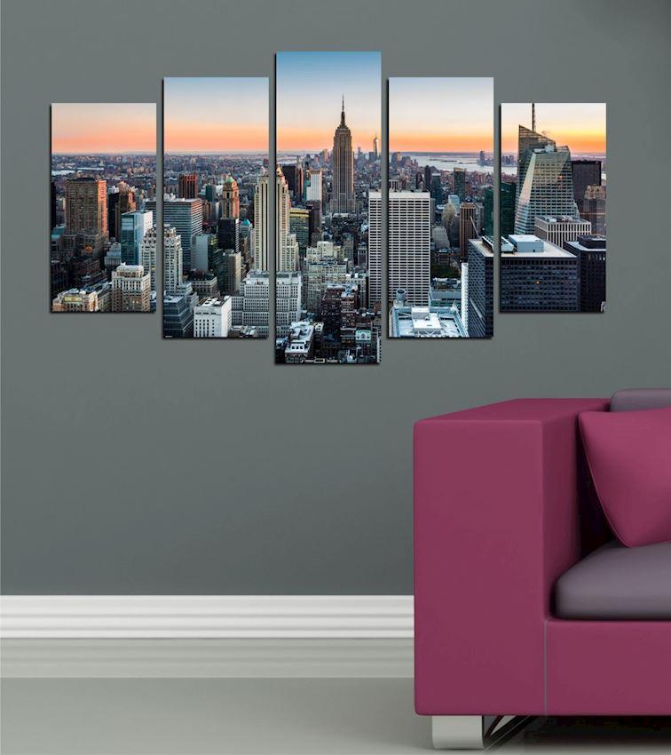 New York (3) 5 Pieces MDF Table 102x60x2.1cm