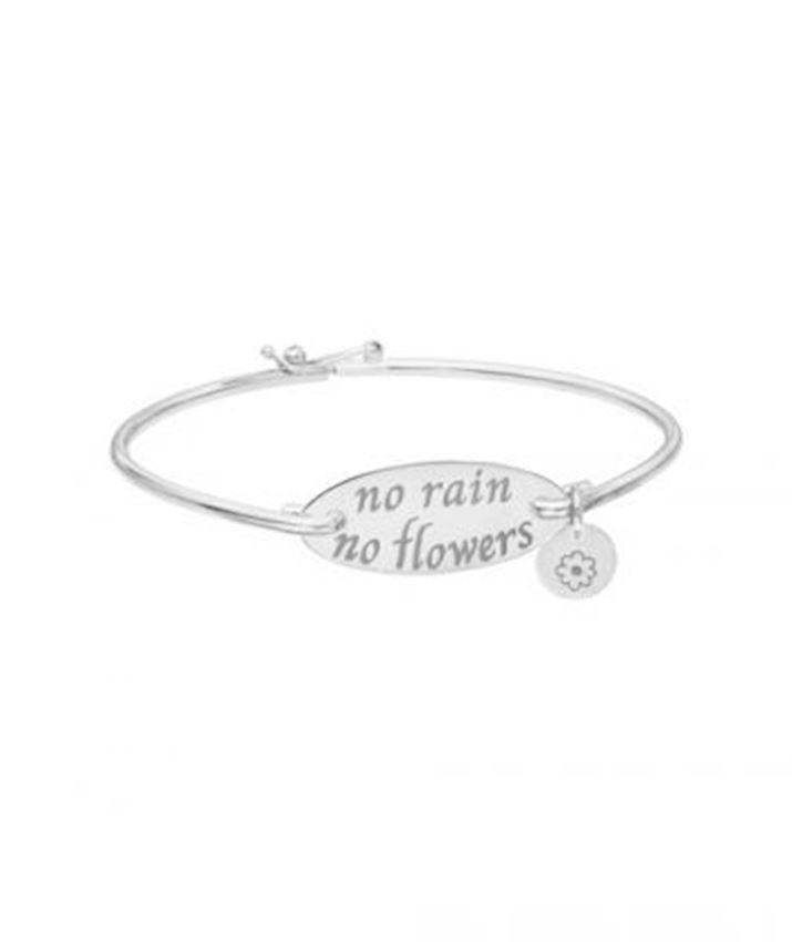 No Rain No Flowers Motto Bangle