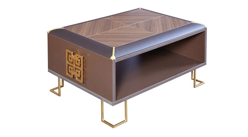 Office Furniture Set Cross Executive Desk Set (Desk, Cabinet, Executive Etagere, Coffee Table)