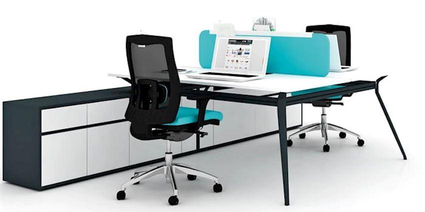Office Furniture Deep Double Maxi Double Workstation Desk 2 Person Desk