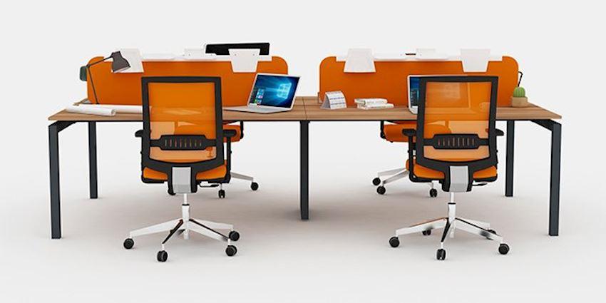 Office Furniture Galaxy Quad Workstation Desk 4 Person Desk