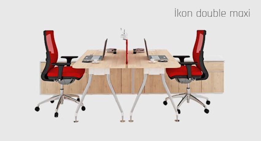 Office Furniture İkon Double Maxi Workstation Desk 2 Person Desk