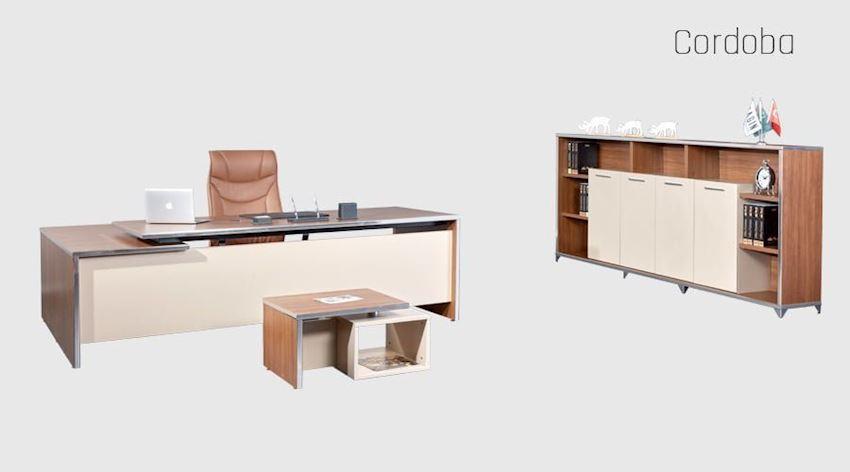 Office Furniture Set Dinamo Executive Desk Set (Desk, Table, Storage Drawer Cabinet)