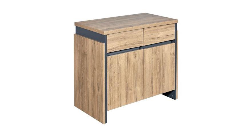 Office Furniture Set Flat Executive Desk Set (Desk, Table, Storage Drawer Cabinet)