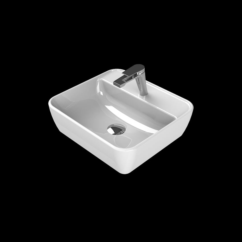 One Washbasin, 46×42 cm, (With Tap Hole) Bathroom Sinks