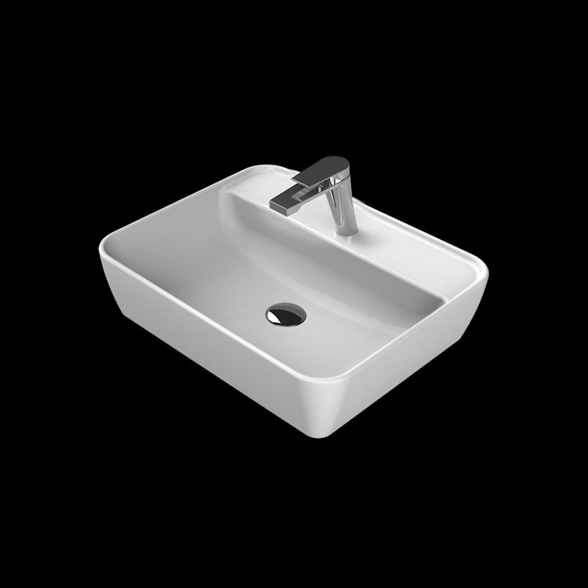 One Washbasin, 55×45 cm, (With Tap Hole) Bathroom Sinks