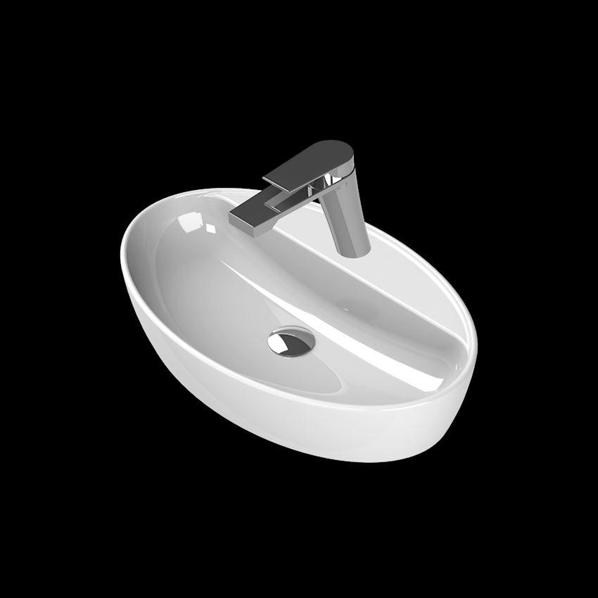 One Washbasin, 67×42 cm, (With Tap Hole) Bathroom Sinks