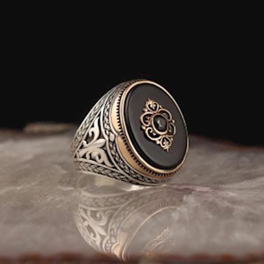 Onyx 925 Sterling Silver Men Ring