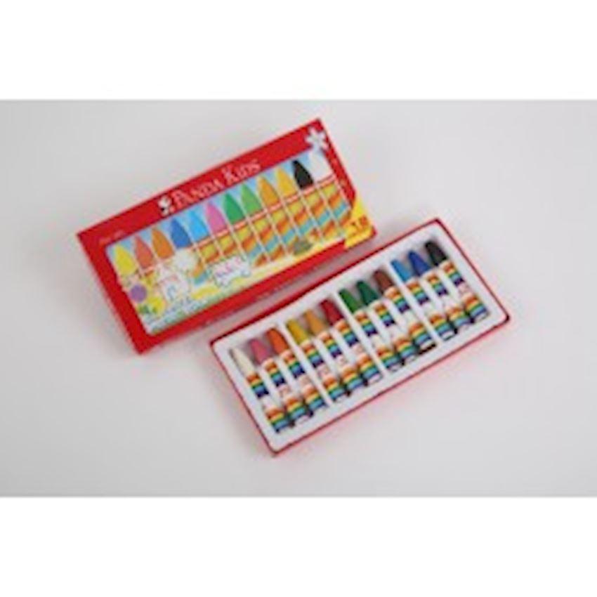 Pandakids Crayon Cover 12 Pieces Paint Brushes