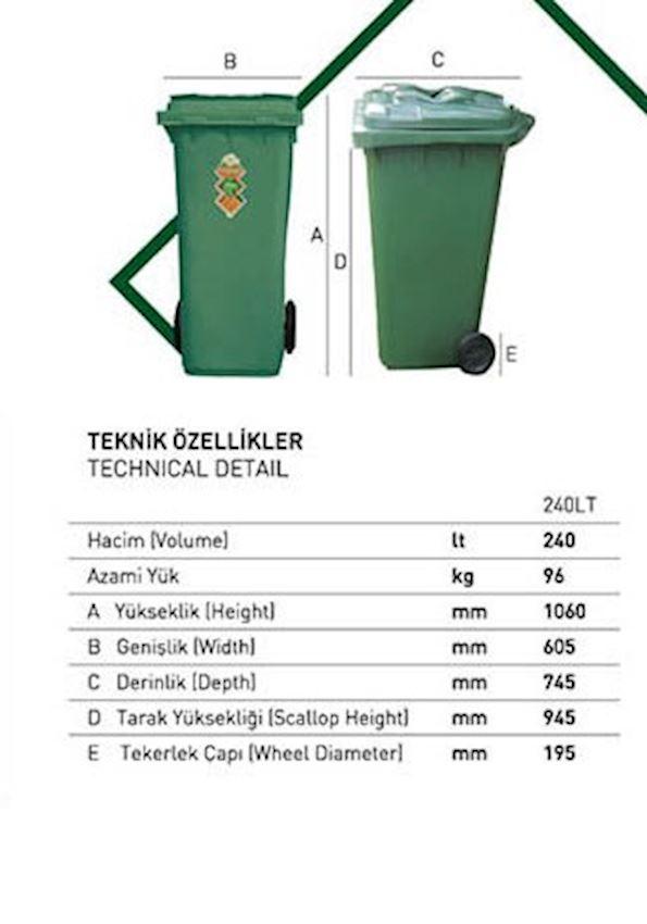 PL 240lt plastic bin