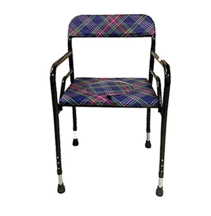 Plaid Foldable Toilet Seat Chair