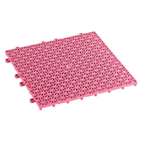 PLASTIC FLOOR TILES - Pink