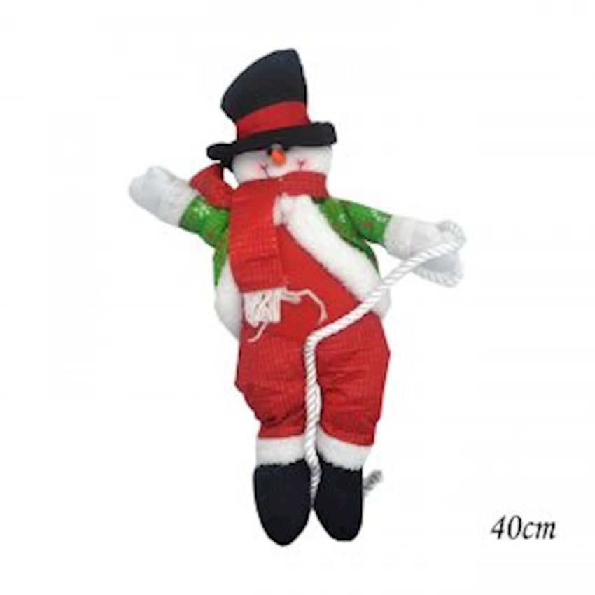 Plush Snowman Trinket with Climbing Hat 40cm Christmas Decoration Supplies