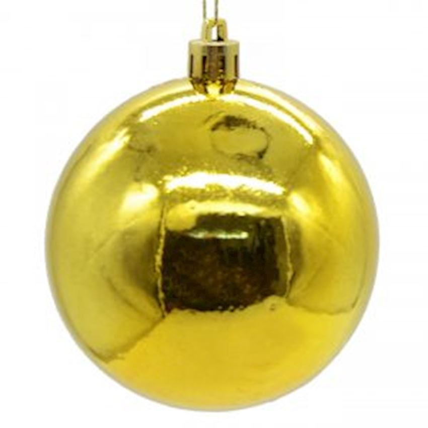 Polished Top Ceiling Ornament Gold 25cm Christmas Decoration Supplies