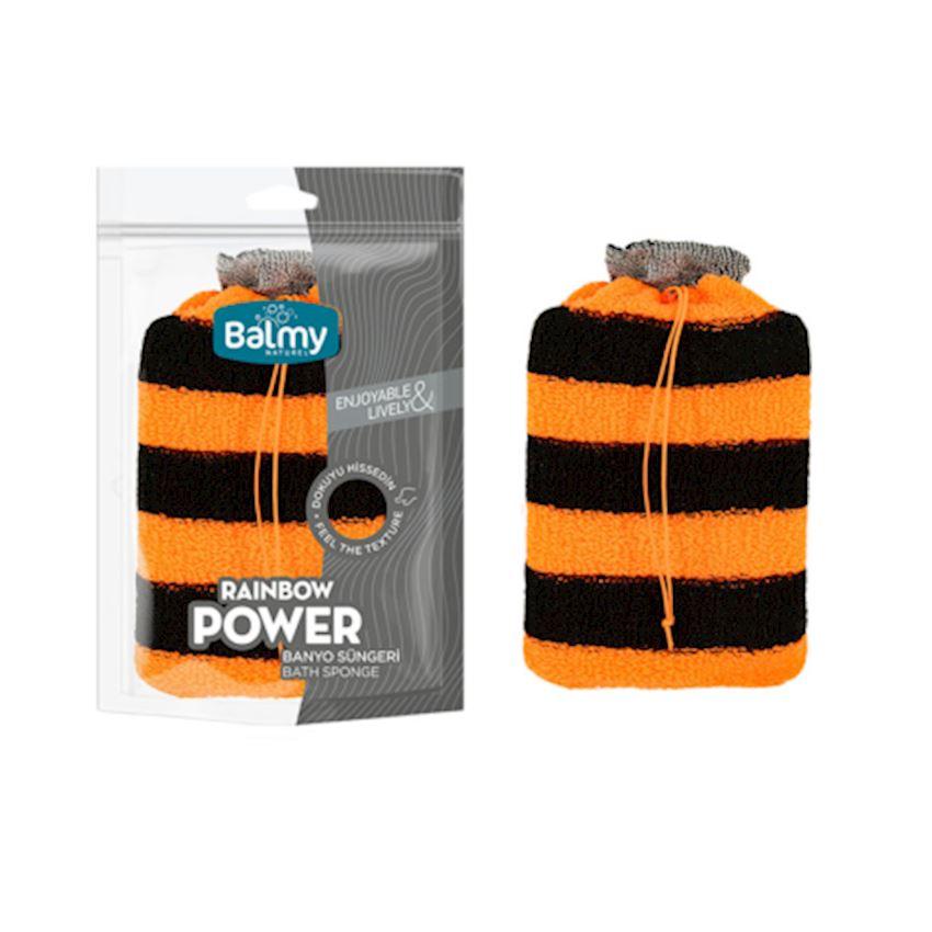 Power Sponge Bath Sponge Black Orange Bath Brushes, Sponges & Scrubbers