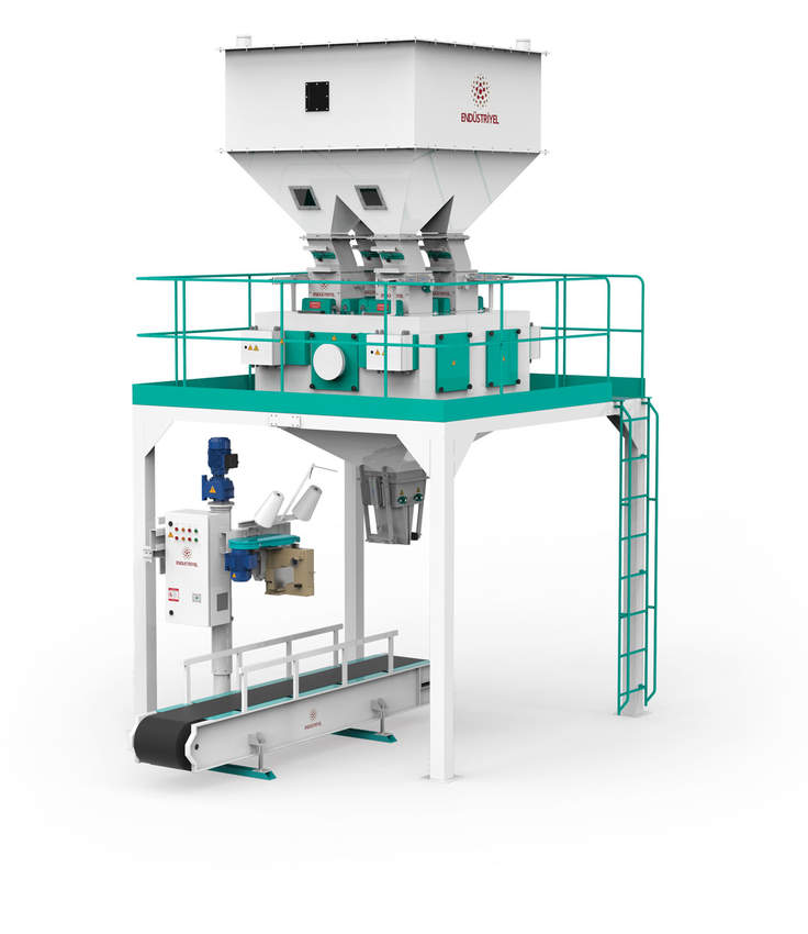 Pulses Packaging Machine With Four Weigh Hoppers & Single