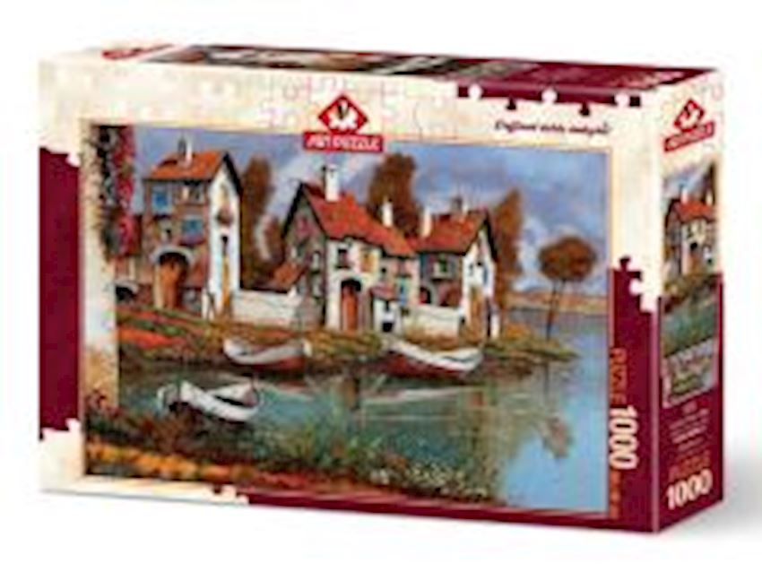 Puzzle Toys -ADULT PUZZLE ART  PUZZLE CERCHIO  HOMES ITALY 1000  PIECES