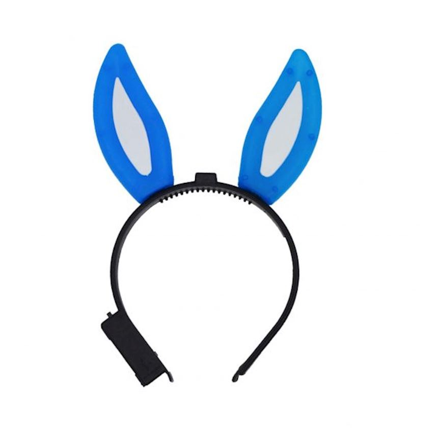 Rabbit Ears Illuminated Crown Blue Christmas Decoration Supplies